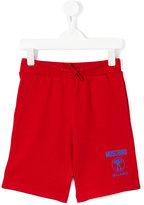 Moschino Kids - logo print track shorts - kids - Cotton - 6 yrs