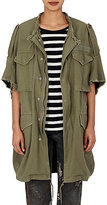 R 13 Women's Oversized M65 Vest-DARK GREEN