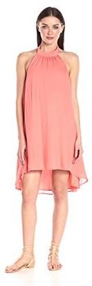 MinkPink Women's Hot Scoop High-Neck Halter Swing Dress