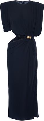 Versace Cutout Crepe Dress