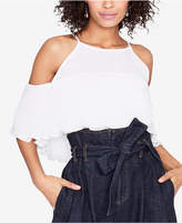 Rachel Roy Cold-Shoulder Flounce Top, Created for Macy's