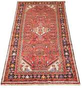 "Ecarpetgallery One-of-a-Kind Runner Oriental Hand-Knotted 3'11"" X 8'0"" Wool Red Area Rug"