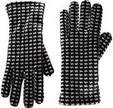 Cejon Black & Tan Houndstooth Velvet Glove