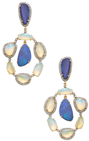 Amrapali 18K Yellow Gold, Opal & 1.49 Total Ct. Diamond Drop Cocktail Earrings