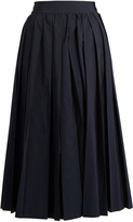Muveil Pleated poplin culottes