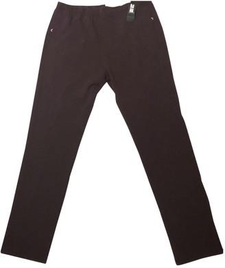 Joseph Burgundy Wool Trousers