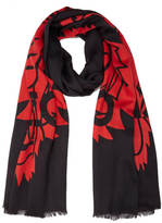 Kenzo Women's Iconics Tiger Chest Scarf Black/Red