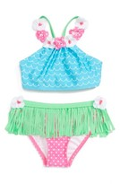 Toddler Girl's Love U Lots Hula Two-Piece Swimsuit