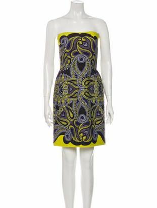 Lanvin Paisley Print Mini Dress Yellow