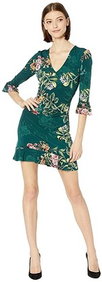 BCBGeneration Long Sleeve Knit Dress TIM6229279 (Dark Green) Women's Clothing