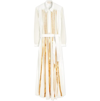 Tory Burch Coin Embroidered Cotton Dress