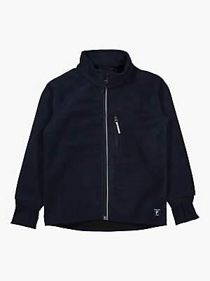 Polarn O. Pyret Children's Waterproof Fleece Jacket, Blue