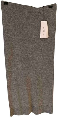 Sandro Grey Wool Skirt for Women