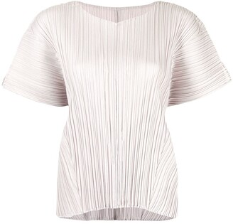 Pleats Please Issey Miyake Mellow plisse-effect T-shirt
