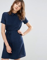 YMC Pleated Dress With Collar