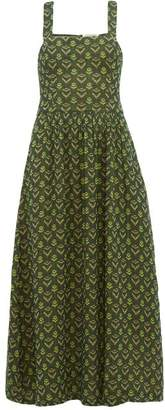 Ace&Jig Willa Cross-over Cotton Dress - Womens - Green Multi