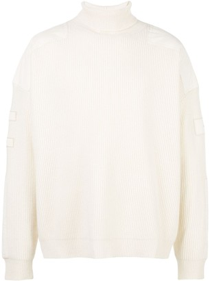 Amiri military patch turtle neck jumper