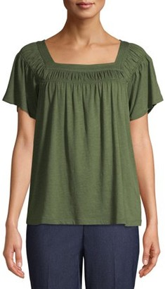 Time and Tru Women's Square Neck T-Shirt