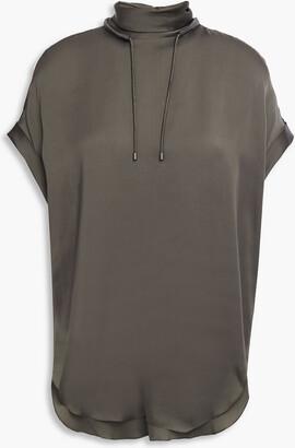 Brunello Cucinelli Bead-embellished Silk Top