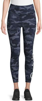 Calvin Klein Camo-Print High-Waist Leggings
