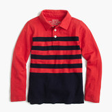 J.Crew Boys' long-sleeve polo shirt in placed stripe