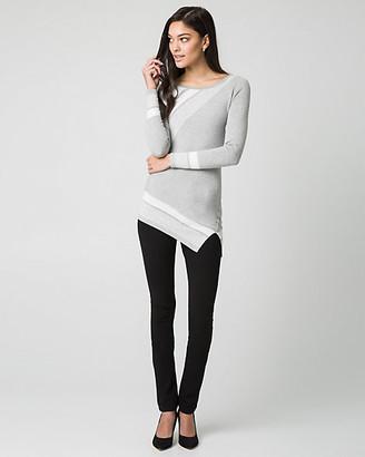 Le Château Stripe Viscose Blend Scoop Neck Sweater