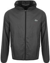 Lacoste Sport Full Zip Hooded Jacket Black