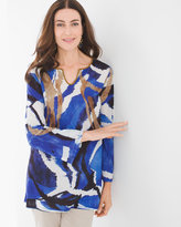 Chico's Abstract Expression Peasant Top