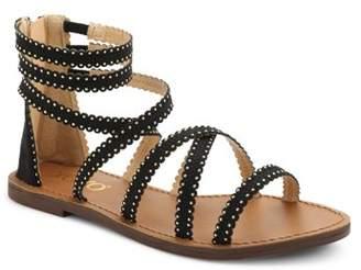 XOXO Women's Colton Studded Detail Gladiator Sandals