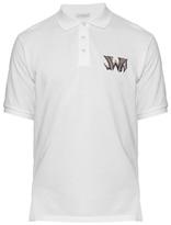 J.w.anderson Logo-embroidered Cotton-piqué Polo Shirt