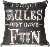 Graham & Brown Black forget rules cushion