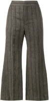 Isabel Marant Keroan flared cropped trousers - women - Linen/Flax/Viscose/Virgin Wool - 34