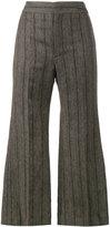 Isabel Marant Keroan flared cropped trousers - women - Linen/Flax/Viscose/Virgin Wool - 36