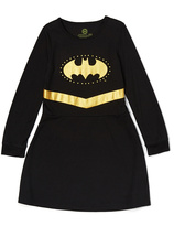 Intimo Black & Gold Batgirl Nightgown - Toddler & Girls