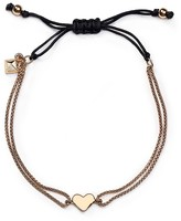 Rebecca Minkoff Heart Chain Adjustable Pull-Tie Bracelet