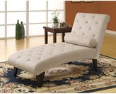 Monarch Specialties Velvet Fabric Chaise Lounger