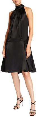 Victoria Victoria Beckham Smocked Satin Hip Dress