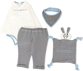 Emporio Armani Kids Logo Long-Sleeve Polo Bodysuit