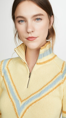 Baon Cropped Zip Cashmere Pullover