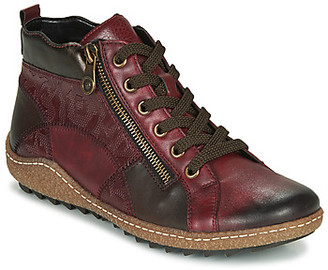 Remonte Dorndorf women's Shoes (High-top Trainers) in Bordeaux