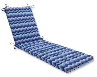 Ivy Bronx Wave Azure Indoor/Outdoor Chaise Lounge Cushion