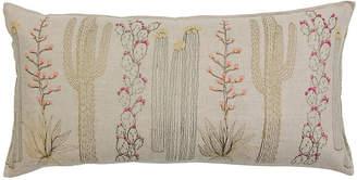 Coral & Tusk Cacti 16x32 Pillow - Natural Linen