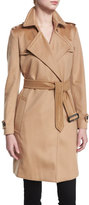 Burberry Cashmere Belted Wrap Trenchcoat, Camel
