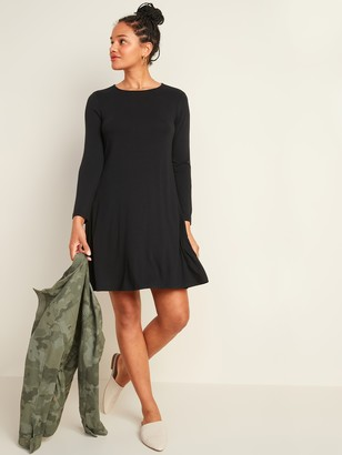 Old Navy Jersey-Knit Long-Sleeve Swing Dress for Women