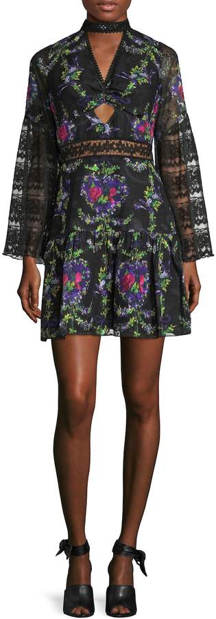 Anna Sui Women's Bird Garland Printed Flared Dress
