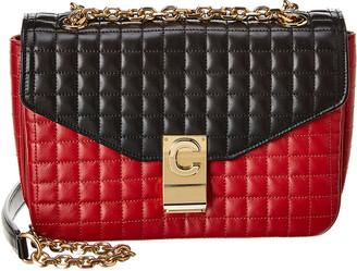 Celine Medium C Bicolour Quilted Leather Shoulder Bag