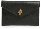 Alexander McQueen Women's Envelope Card Holder - Black