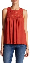 Melrose and Market Lace Yoke Tank (Petite)