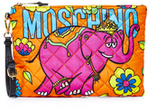 Moschino Printed Clutch