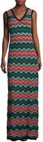 M Missoni Women's Intarsia V-Neck Gown
